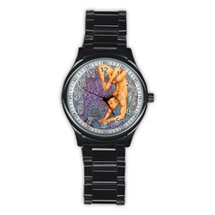 Zodiac Signs Scorpio Drawing Stainless Steel Round Watches by KentChua