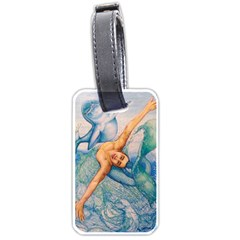 Zodiac Signs Pisces Drawing Luggage Tags (two Sides) by KentChua