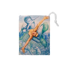 Zodiac Signs Pisces Drawing Drawstring Pouches (small)  by KentChua