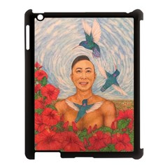 Spring Amazed By The Hummingbirds Drawing Apple Ipad 3/4 Case (black) by KentChua