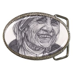 Mother Theresa  Pencil Drawing Belt Buckles by KentChua