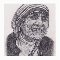 Mother Theresa  Pencil Drawing Medium Glasses Cloth (2 Side) by KentChua