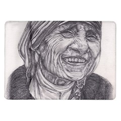 Mother Theresa  Pencil Drawing Samsung Galaxy Tab 10 1  P7500 Flip Case by KentChua