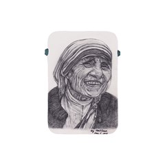 Mother Theresa  Pencil Drawing Apple Ipad Mini Protective Soft Cases by KentChua