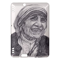 Mother Theresa  Pencil Drawing Kindle Fire Hdx Hardshell Case by KentChua