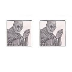 Dalai Lama Tenzin Gaytso Pencil Drawing Cufflinks (square)