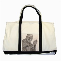 Dalai Lama Tenzin Gaytso Pencil Drawing Two Tone Tote Bag  by KentChua