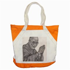 Dalai Lama Tenzin Gaytso Pencil Drawing Accent Tote Bag  by KentChua