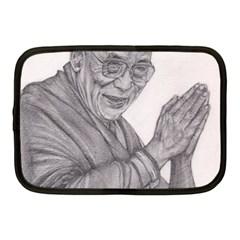 Dalai Lama Tenzin Gaytso Pencil Drawing Netbook Case (medium)  by KentChua