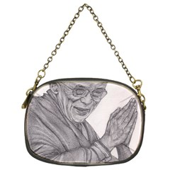 Dalai Lama Tenzin Gaytso Pencil Drawing Chain Purses (two Sides)  by KentChua