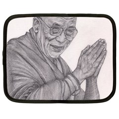 Dalai Lama Tenzin Gaytso Pencil Drawing Netbook Case (xl)  by KentChua