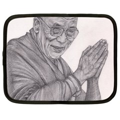 Dalai Lama Tenzin Gaytso Pencil Drawing Netbook Case (xxl)  by KentChua