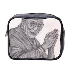 Dalai Lama Tenzin Gaytso Pencil Drawing Mini Toiletries Bag 2 Side by KentChua