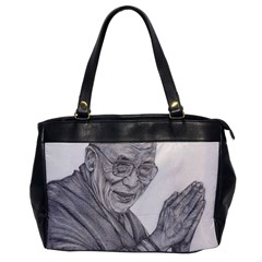 Dalai Lama Tenzin Gaytso Pencil Drawing Office Handbags by KentChua