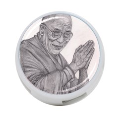 Dalai Lama Tenzin Gaytso Pencil Drawing 4 Port Usb Hub (one Side) by KentChua