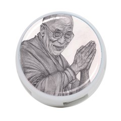 Dalai Lama Tenzin Gaytso Pencil Drawing 4 Port Usb Hub (two Sides)  by KentChua