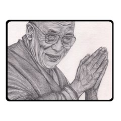 Dalai Lama Tenzin Gaytso Pencil Drawing Fleece Blanket (small)