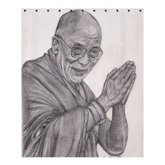 Dalai Lama Tenzin Gaytso Pencil Drawing Shower Curtain 60  X 72  (medium)  by KentChua