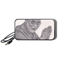 Dalai Lama Tenzin Gaytso Pencil Drawing Portable Speaker (black)  by KentChua