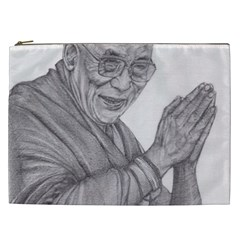 Dalai Lama Tenzin Gaytso Pencil Drawing Cosmetic Bag (xxl)  by KentChua