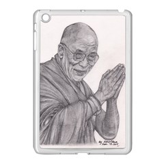Dalai Lama Tenzin Gaytso Pencil Drawing Apple Ipad Mini Case (white) by KentChua
