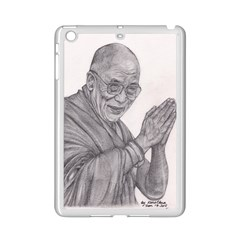 Dalai Lama Tenzin Gaytso Pencil Drawing Ipad Mini 2 Enamel Coated Cases by KentChua
