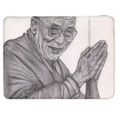 Dalai Lama Tenzin Gaytso Pencil Drawing Samsung Galaxy Tab 7  P1000 Flip Case by KentChua