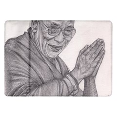 Dalai Lama Tenzin Gaytso Pencil Drawing Samsung Galaxy Tab 10 1  P7500 Flip Case by KentChua