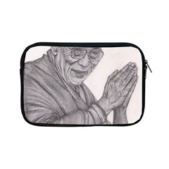 Dalai Lama Tenzin Gaytso Pencil Drawing Apple Ipad Mini Zipper Cases by KentChua