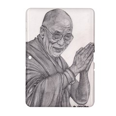 Dalai Lama Tenzin Gaytso Pencil Drawing Samsung Galaxy Tab 2 (10 1 ) P5100 Hardshell Case  by KentChua