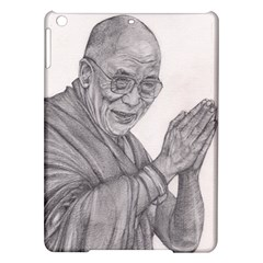 Dalai Lama Tenzin Gaytso Pencil Drawing Ipad Air Hardshell Cases by KentChua