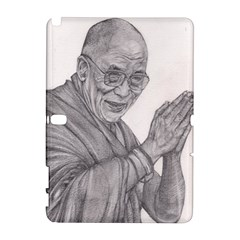 Dalai Lama Tenzin Gaytso Pencil Drawing Samsung Galaxy Note 10.1 (P600) Hardshell Case by KentChua