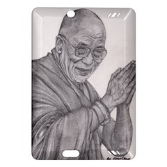 Dalai Lama Tenzin Gaytso Pencil Drawing Kindle Fire Hd (2013) Hardshell Case by KentChua