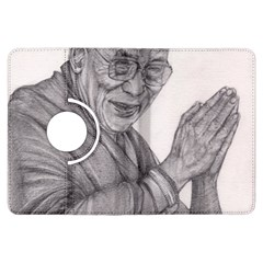 Dalai Lama Tenzin Gaytso Pencil Drawing Kindle Fire HDX Flip 360 Case by KentChua