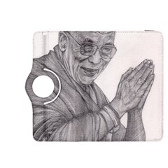Dalai Lama Tenzin Gaytso Pencil Drawing Kindle Fire Hdx 8 9  Flip 360 Case by KentChua