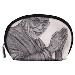 Dalai Lama Tenzin Gaytso Pencil Drawing Accessory Pouches (large)  by KentChua