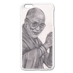 Dalai Lama Tenzin Gaytso Pencil Drawing Apple Iphone 6 Plus/6s Plus Enamel White Case by KentChua
