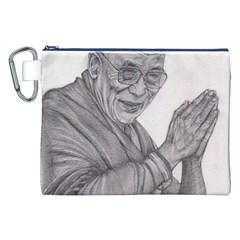 Dalai Lama Tenzin Gaytso Pencil Drawing Canvas Cosmetic Bag (xxl)  by KentChua