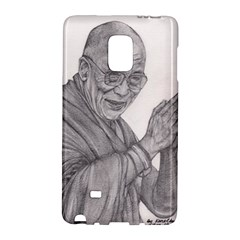 Dalai Lama Tenzin Gaytso Pencil Drawing Galaxy Note Edge by KentChua