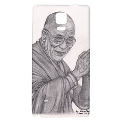 Dalai Lama Tenzin Gaytso Pencil Drawing Galaxy Note 4 Back Case by KentChua