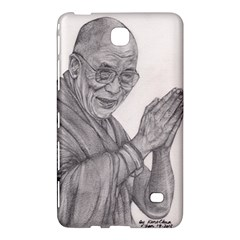 Dalai Lama Tenzin Gaytso Pencil Drawing Samsung Galaxy Tab 4 (7 ) Hardshell Case  by KentChua