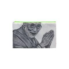 Dalai Lama Tenzin Gaytso Pencil Drawing Cosmetic Bag (xs) by KentChua