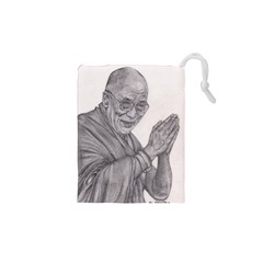 Dalai Lama Tenzin Gaytso Pencil Drawing Drawstring Pouches (xs)  by KentChua