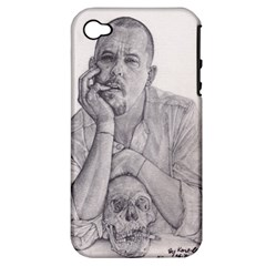 Alexander Mcqueen Pencil Drawing Apple Iphone 4/4s Hardshell Case (pc+silicone) by KentChua