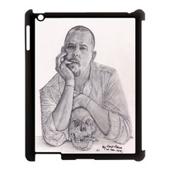 Alexander Mcqueen Pencil Drawing Apple Ipad 3/4 Case (black) by KentChua