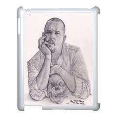 Alexander Mcqueen Pencil Drawing Apple Ipad 3/4 Case (white) by KentChua