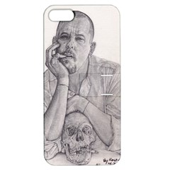 Alexander Mcqueen Pencil Drawing Apple Iphone 5 Hardshell Case With Stand by KentChua