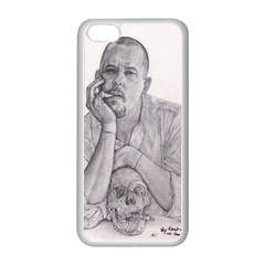 Alexander Mcqueen Pencil Drawing Apple Iphone 5c Seamless Case (white) by KentChua