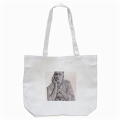 Alexander Mcqueen Pencil Drawing Tote Bag (white)  by KentChua