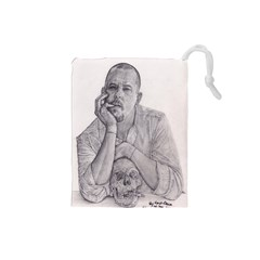 Alexander Mcqueen Pencil Drawing Drawstring Pouches (small)  by KentChua